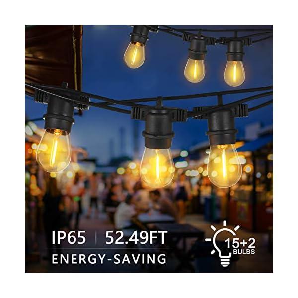 Tomshine E27 Catena Luminosa Lampadina LED Kit Luci Stringa LED E27 IP65 16M/15+2LED 2 spesavip