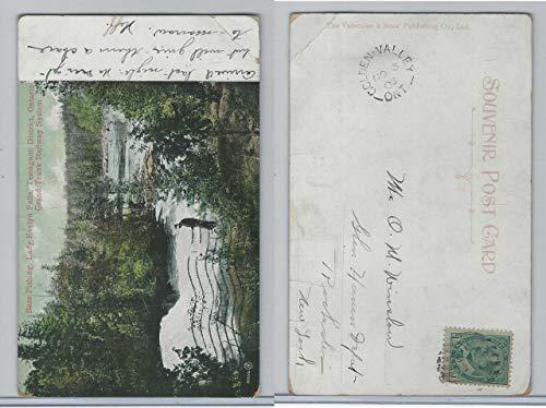 Postcard, Ontario, Bass Fishing, Lady Evelyn Falls, Temagami, 1905 (Fall Bass)