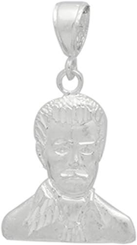 Mal Verde Pendant/925 Sterling Silver Diamond Cut/Charm 30mm Long Blue Apple Co