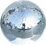 Eurolite Spiegelkugel 40cm | Discokugel für Partyraum, Club, Bar, Disco | Mirrorball mit 10mm Echtglas-Facetten | Mit Halteöse und zweiter Öse zur Fallsicherung | Lückenlos verklebt