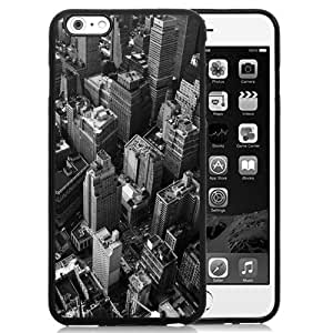Beautiful Unique Designed iPhone 6 Plus 5.5 Inch Phone Case With Looking Down New York City Grayscale_Black Phone Case