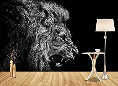 LWCX European Modern 3D Wallpapers Lion Head Wallpaper Mural Photo Wall Murals For Sofa Tv Backdrop Wall