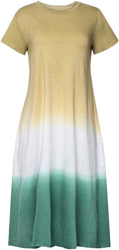 BBFairy Maxi Dresses for Women Womens Plus Size Maxi Dresses V Neck Sleeveless Loose Pocket Slits Long Dress