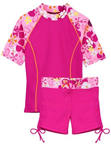 - Tuga Girls Surfer Girl 2 PC Swim Set (UPF 50+), Misty Pink, 11/12 yrs