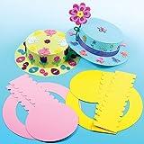 Kits de Sombreros de Pascua de Colores Manualidades Creativas para Niños Perfectas para Fiestas Infantiles de Primavera (Pack de 3)