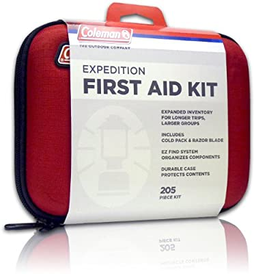 Coleman Expedition First Aid Kit (205-Piece), Red by Wisconsin Pharmacal