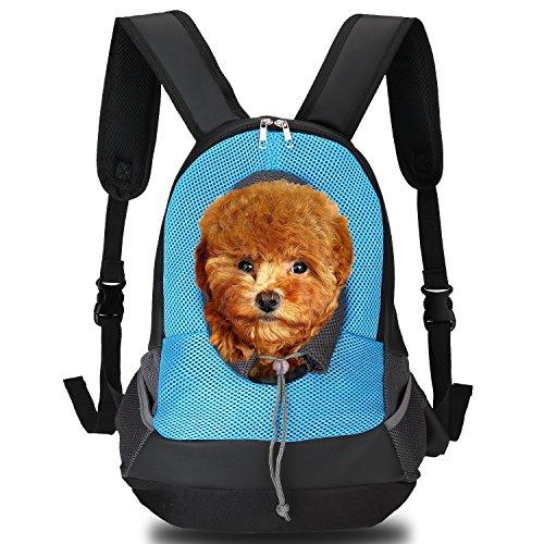Ecandy Rucksack für Hundekatze Haustier, hundetaschen für kleine hunde Haustier Hund Tasche Rucksack für Hunde Hunderucksack (blau)