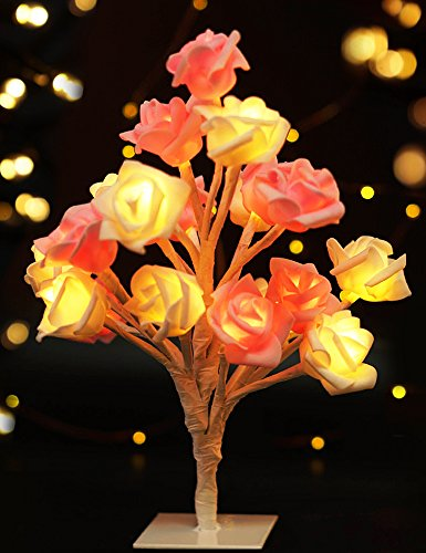 Bright Zeal LED Rose Tree Table Lamp Timer
