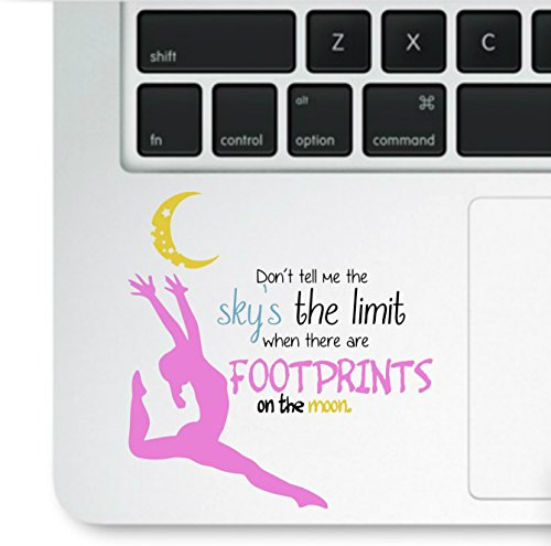 Price comparison product image Decal & Sticker Pros Motivational Quote - Don't Tell Me Sky's the Limit Decal Laptop Macbook Trackpad Keypad Sticker