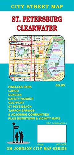 St Petersburg Clearwater Florida Street Map GM Johnson