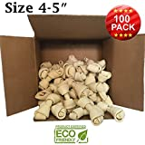 "Brazilian Pet Limited time Deal 4-5"" Premium Dog Bones –Chewing Dog Treat Made with The Best Rawhide 100% Natural - No Additives, Chemicals or Hormones – Natural Grass Fed in South America"