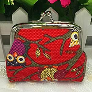 Amazon.com: Cute Owl Design Coin Money Bag Purse Wallet