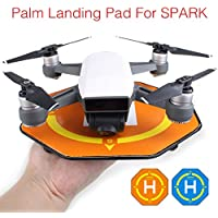 2pcs Palm Landing Pad Mini Landing Field Parking Apron for DJI SPARK Drone ( 1PCS Blue+ 1PCS Orange)