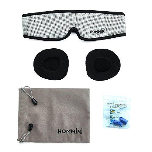 Sleep Mask, HOMMINI Silk Eye Mask 3D Breathable Memory Foam Contoured Modular Best Travel Sleeping mask,Blocks Out All Light with Adjustable Anti-Slip Gel/Ear Plugs/Travel Pouch for Men Women Kids by HOMMINI (Image #7)