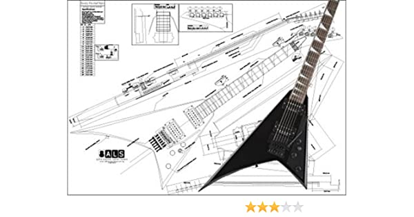 jackson flying v wiring diagram amazon com plan of a jackson randy rhoads electric guitar full  jackson randy rhoads electric guitar