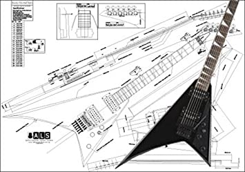 Amazon plan of a jackson randy rhoads electric guitar full plan of a jackson randy rhoads electric guitar full scale print asfbconference2016 Image collections