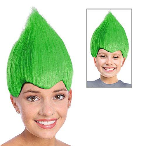 Trolls Costume Green Troll Doll Costume Green Troll Wig Grinch Who Costume Wig (Grinch Halloween Costume)