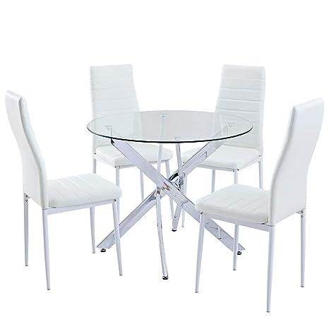 Juego de mesa de comedor redonda SICOTAS, mesa de cocina ...