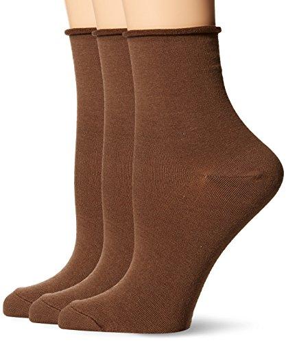 HUE Womens Roll Top Shortie Sock (Pack of 3)