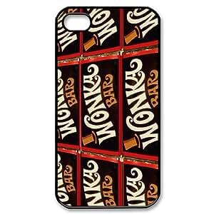 Unique Design -ZE-MIN PHONE CASE For Iphone 4 4S case cover -Popular Wonka Bar Pattern 3
