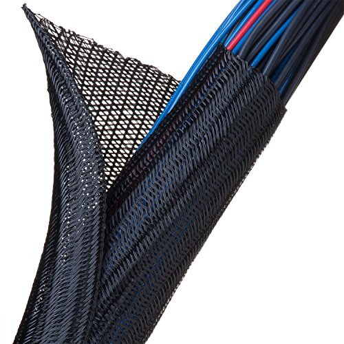 F6 - Self Wrapping Braided Sleeving - 2'' - Black 10 ft piece