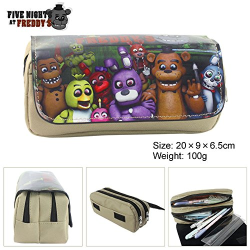 Lcrystal for Five Nights at Freddy's Stationary Pencil Holder Bag, Packing Organizer, Cosmetic Bag, Animation Purse - (Five Pen Case)