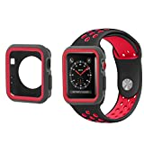 All-inside 42mm Black/Red Sport Band and Case Bundle for...