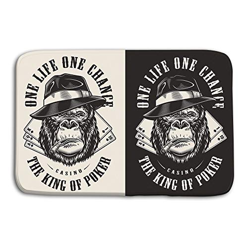 zexuandiy Place Mats Washable Fabric Placemats for Dining Room Kitchen Table Decor 23.6x15.7 Print Gangster Gorilla Concept Fedora hat Print Gorilla Concept (Stitch Fedora)