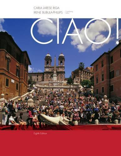 Student Activity Manual for Riga/Phillips' Ciao!, 8th by Carla Larese Riga (2013-01-01)