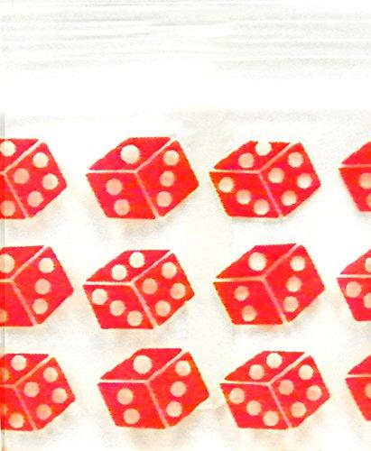 The Baggie Store 5858 Original Mini Ziplock 2.5mil Plastic Bags 5//8 x 5//8 Reclosable Baggies Red Dice