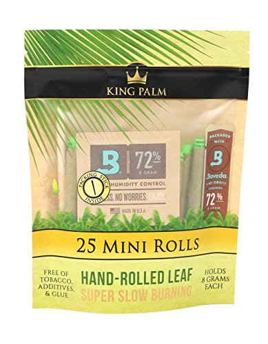 Price comparison product image King Palm Mini Size Natural Pre Wrap Palm Leafs (25 Pack)