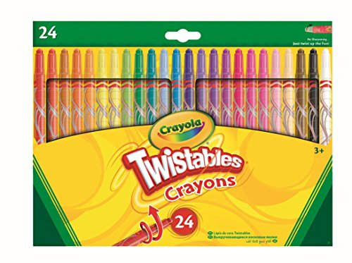 (CrayolaTwistables Crayons, Pack of 24 - Multicolour)