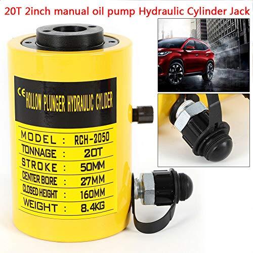 20t Manual - TBvechi Jacks 20T 2 Inch Manual Oil Pump Hydraulic Cylinder Jack 44000LBS CP-700B