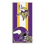 "Northwest 720 NFL Minnesota Vikings Zone Read Beach Towel, 30""x60"", Purple"