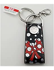 Disney Parks Keychain - Minnie Dots and Bow Loop with Snap
