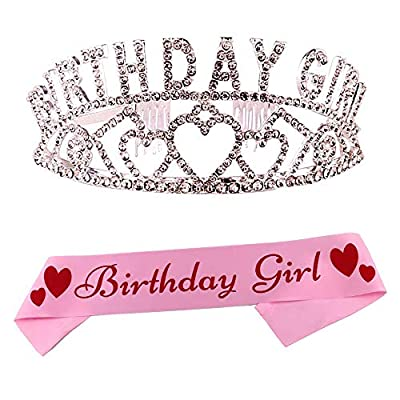 WERJIA It's My FING Birthday Sash and Crown, Princess Birthday Girl Tiara and Sash for Girls 30th, 40th, 50th, 60th, 70th Birthday Party Supplies (Silver): Health & Personal Care