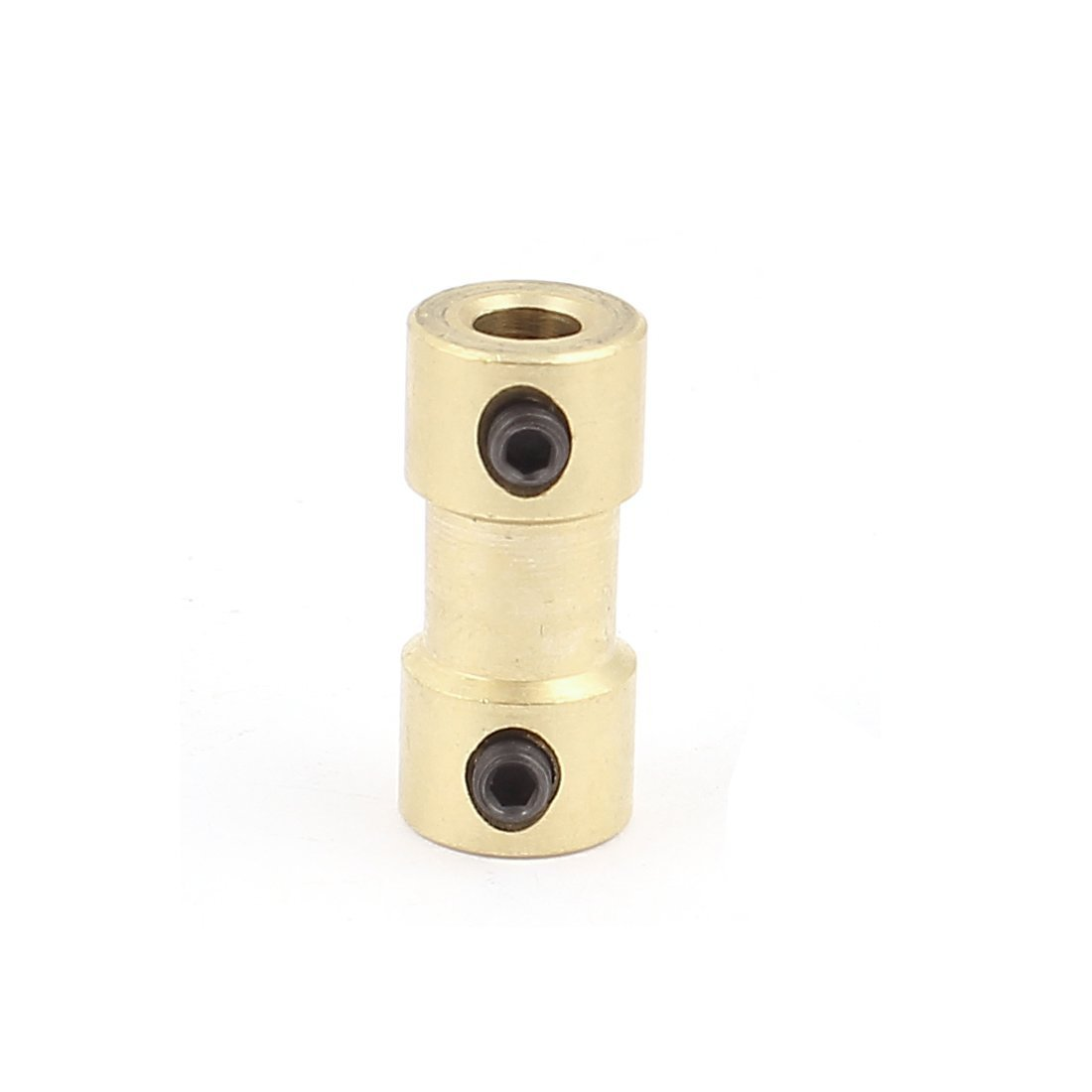 sourcingmap 4mm to 4mm Copper DIY Motor Shaft Coupling Joint Connector for Electric Car Toy a15113000ux1258