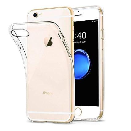 XTCASE Funda iPhone 6s Silicona Transparente, Ultrafina Suave TPU Carcasa para iPhone 6/6s Delgado Flexible Protectora Case Cover Anti-rasguños ...