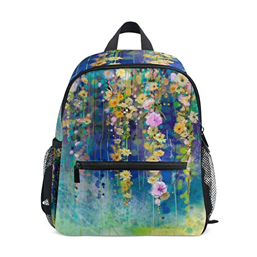 Abstract Boys nbsp;Girls nbsp;Backpack nbsp;School nbsp;Toddler nbsp;for nbsp;Bag Art Kids Flower ZZKKO nbsp;Book 5nxwPWvFq