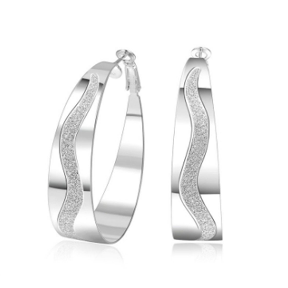 ULAKY Sterling Silver Circle Earrings Image 1