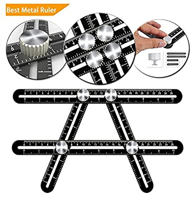 Multi Angle Measuring Ruler Universal Ruler Ultimate Template Tool Ruler Upgraded Aluminum Alloy Multi Function Ruler