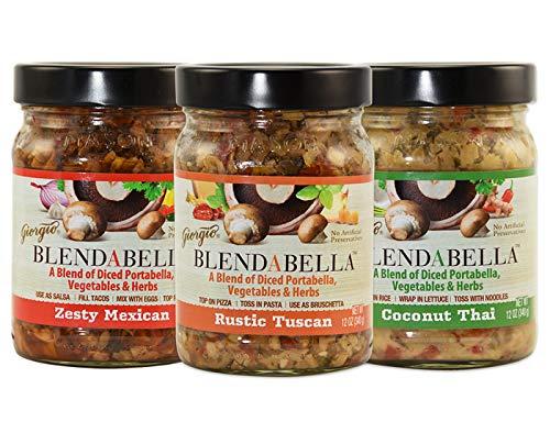 Mushroom Portabella Pasta (Giorgio Blendabella Variety Pack: Coconut Thai, Zesty Mexican, Rustic Tuscan)