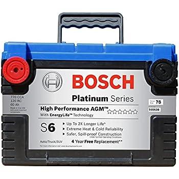Bosch S6563B S6 Flat Plate AGM Battery