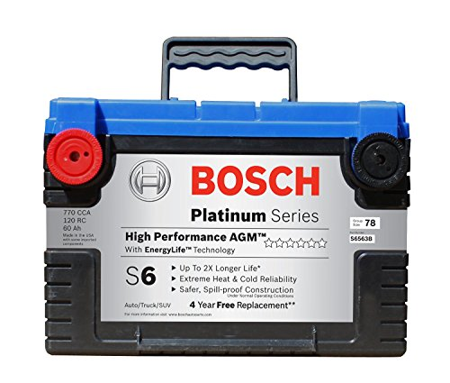 Bosch S6563B S6 Flat Plate AGM Battery (Auto Battery 2005 Trailblazer compare prices)