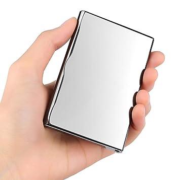 Velarnet Professional Pour Cartes De Visite Ultra Mince Miroir En Acier Inoxydable