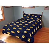 College Covers Iowa Hawkeyes Reversible Comforter Set, Full