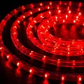 "WYZworks Red 1/2"" Thick (10', 25', 50', 100', 150' option) PRE-ASSEMBLED LED Rope Lights - Christmas Holiday Decoration Lighting 