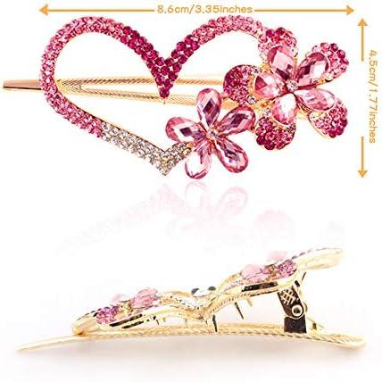 9cm Perla Cristallo Diamante Capelli Slide Barrette Accessorio Da Sposa Ballo Matrimonio