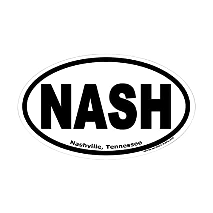 Amazon Com Cafepress Nashville Tennessee Nash Oval Sticker Oval