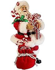 "Kurt Adler 10.5"" Santa with Candy and Sack Figure"
